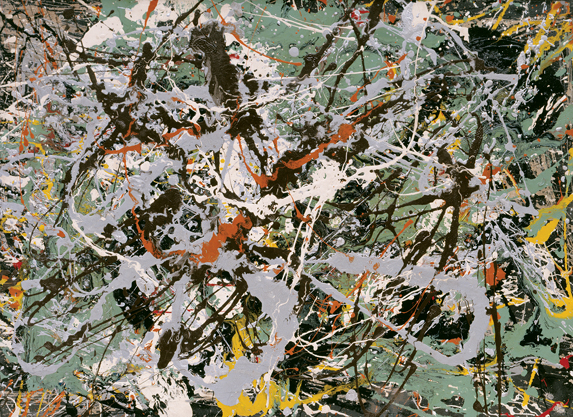 Pollock Untitled (Green Silver)