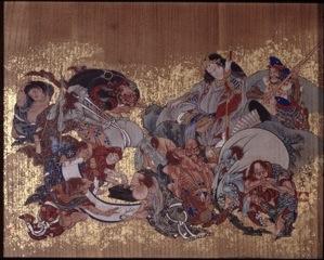Susano-o no Mikoto making pact with spirits of disease