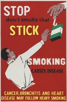 Wellcome: Cigarette poster