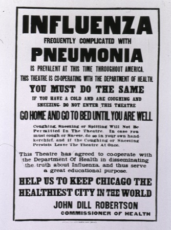 Chicago influenza poster 1918