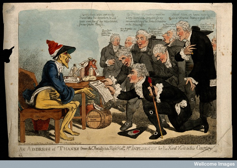 Physicians thank influenza (1803)