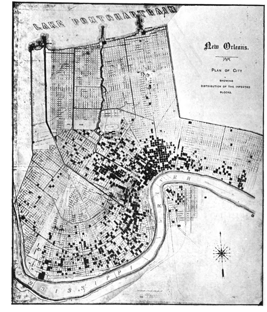 Yellow fever cases, New Orleans, 1905