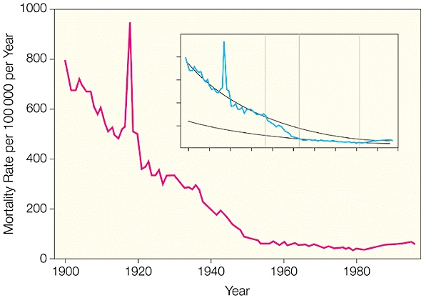 20th century mortality rates