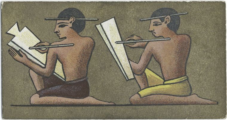Egyptian scribes (NYPL)